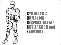 Cybernetic Humanoid Responsible for Infiltration and Sabotage