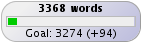 Wrimo count, day 2: 3368 words